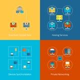 Hosting flat icons Stock Image