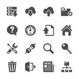 Hosting and FTP icon set,  eps10.  Royalty Free Stock Images