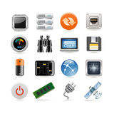 Hosting Icon Set Royalty Free Stock Photo