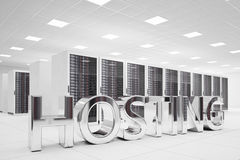 Hosting Letters in data center Stock Photos