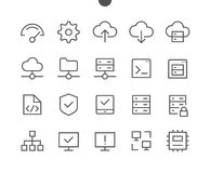 Hosting Pixel Perfect Well-crafted Vector Thin Line Icons 48x48 Ready for 24x24 Grid for Web Graphics and Apps with Stock Photos