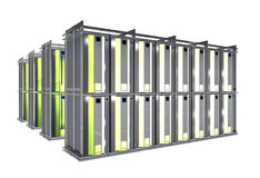 Hosting Room - Server Racks Stock Photo