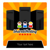 HOSTING SERIES - SHARED HOSTING TEMPLATE stock images