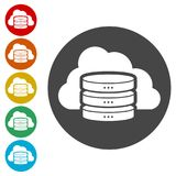 Hosting server icon, Database icon. Simple vector icons set vector illustration