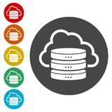 Hosting server icon, Database icon. Simple vector icons set Royalty Free Stock Photography