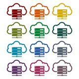 Hosting server icons set. Vector icon Royalty Free Stock Images