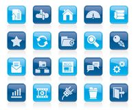 Hosting, server and internet icons. Vector icon set Royalty Free Stock Image