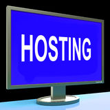 Hosting Shows Web Internet Or Website Domain Royalty Free Stock Photo
