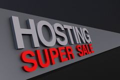 Hosting Super Sale Stock Photo