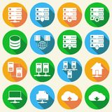 Hosting Technology Icons Set Royalty Free Stock Image