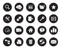 Hosting web icons  for office, web, blog, graphic & printing Royalty Free Stock Photography
