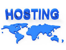 Hosting World Shows Earth Webhosting And Worldwide Stock Images