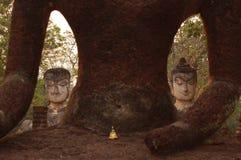 Hostorical Buddha statues in Thailand. Kamphaeng Phet Historical Park Aranyik area, Buddha statues in Thailand Stock Images