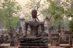 Hostorical Buddha statues in Thailand Stock Photography