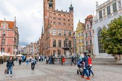 Hostorical centrum Gdański miasto Fotografia Stock