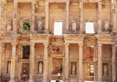 Hostorical stenar i Ephesus, Izmir arkivfoton