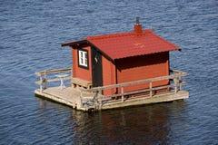 Hosue di galleggiamento rosso Fotografia Stock Libera da Diritti