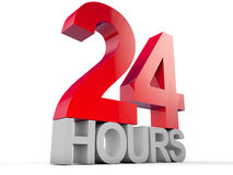 24 hosur. 24 hours over white background Royalty Free Stock Photography