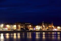 Hotéis ao longo do esplanade de Weymouth Fotografia de Stock