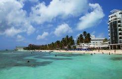 Hotéis de Caribean em Colômbia Fotografia de Stock Royalty Free