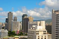 Hotéis de Honolulu imagem de stock
