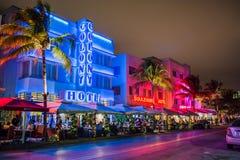 Hotéis de Miami Beach Fotos de Stock Royalty Free