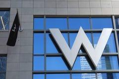 Hotéis de W imagem de stock