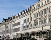Hotéis do beira-mar. foto de stock royalty free