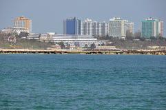 Hotéis do mar imagens de stock