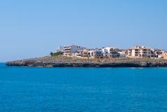 Hotéis e casas de campo no cabo do coma do Sa, console de Majorca Fotografia de Stock