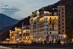 hotéis nas montanhas Foto de Stock