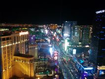 Hotéis sul da tira de Las Vegas fotos de stock royalty free