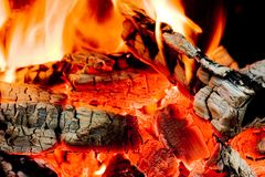 Hot!. Hot coals Royalty Free Stock Images