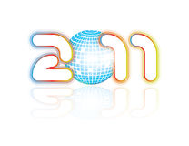 Hot 2011 party illustration. In editable  template Stock Photo