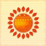 Hot abstract ethnic sun Stock Image
