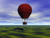 Hot-air μπαλόνι απεικόνιση αποθεμάτων