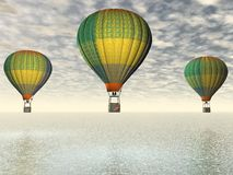 Hot-air μπαλόνι Στοκ εικόνες με δικαίωμα ελεύθερης χρήσης
