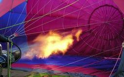 Hot air. Filling a hot air balloon Stock Images