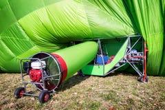 Hot air airship. At the startup Stock Image