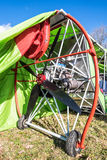 Hot air airship. At the startup Royalty Free Stock Photography