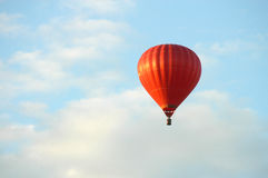 Hot air ballon. On the sky Royalty Free Stock Images