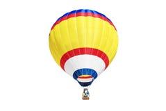 Hot air ballon. On the white background royalty free stock photos