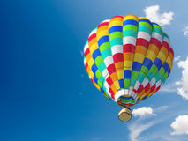 Hot air ballon. In blue sky Stock Image