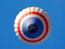 Hot air ballon. Ballon on the sky, view from down royalty free stock photos