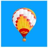 Hot air ballon 4. Hot air ballon fly in sky,  illustration Royalty Free Stock Image
