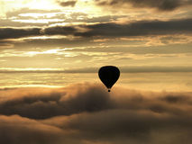 Hot air ballon. Pic taken on a balloon 700 meters above the ground in the Center Mexico at 6:50 a.m Stock Images