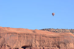 Hot Air Ballon Above Sandstone Mesa Stock Images