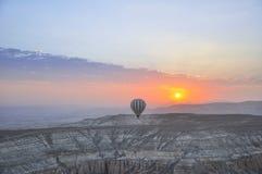 Hot Air Ballon. In Cappadocia Turkey stock photos