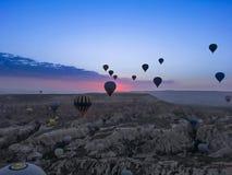 Hot Air Ballon. In Cappadocia Turkey stock images