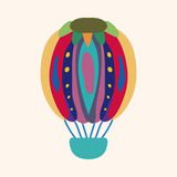 Hot air ballon design elements vector. Cartoon vector illustration Royalty Free Stock Image